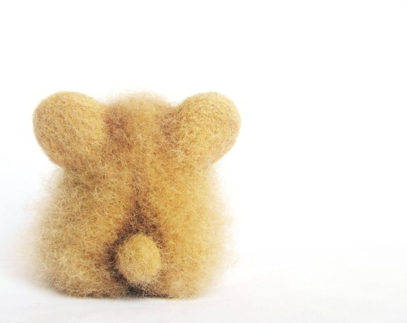 Chubby Bear 0 - An Art Toy Wool Pleasure by VladaHom on etsy.com