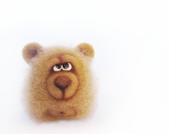 Chubby Bear - An Art Toy Wool Pleasure by VladaHom on etsy.com
