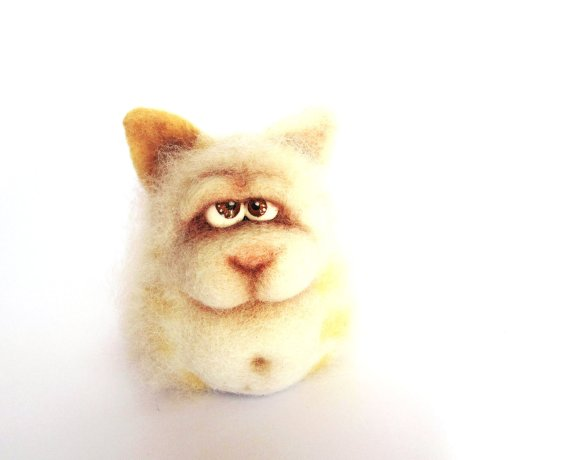 Funny Cat - An Art Toy Wool Pleasure by VladaHom