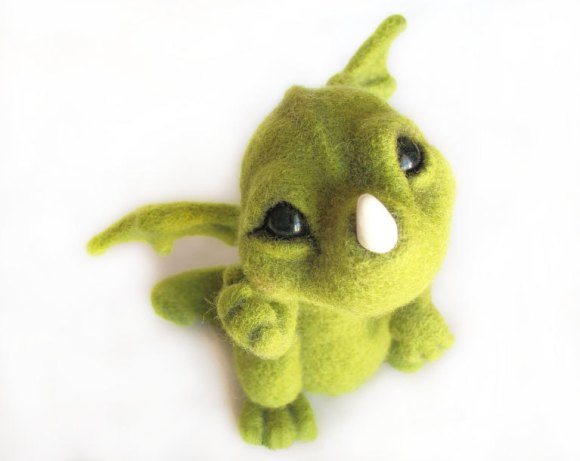 Little Green Dragon - An Art Toy Wool Pleasure