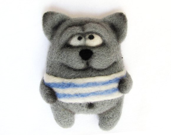 Cute Gray Cat - Sheep - An Art Toy Wool Pleasure by VladaHom