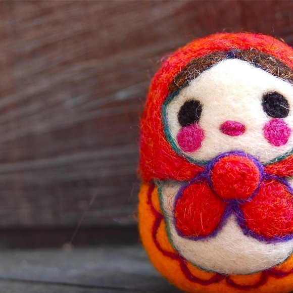 Matrioska - Wooly Egg Toy by asherjasper on etsy.com