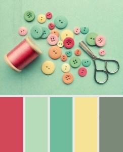 Vintage Green - Shabby Chic Colour Palette