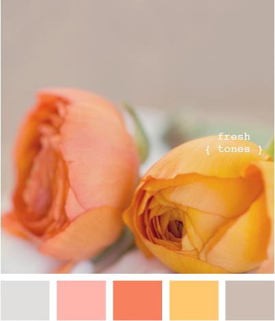 Vintage Orange - Shabby Chic Colour Palette