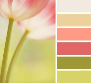 Vintage Tulip Green - Shabby Chich Colour Palette