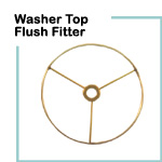 Washer Top Fitting - Flush -