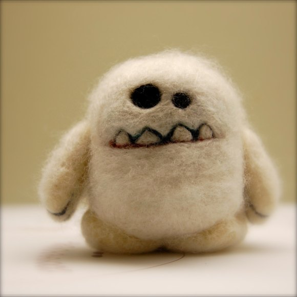 Yeti - Wooly Egg Toy by asherjasper on etsy.com