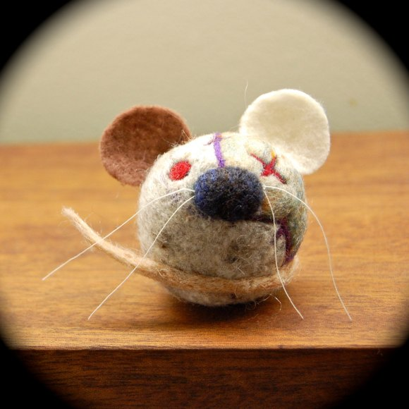 Zombie Mouse - Wooly Egg Toy by asherjasper on etsy.com