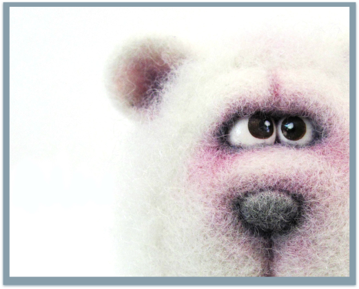 A Wooly Pleasure - Polar Bear by VladaHom on etsy.com